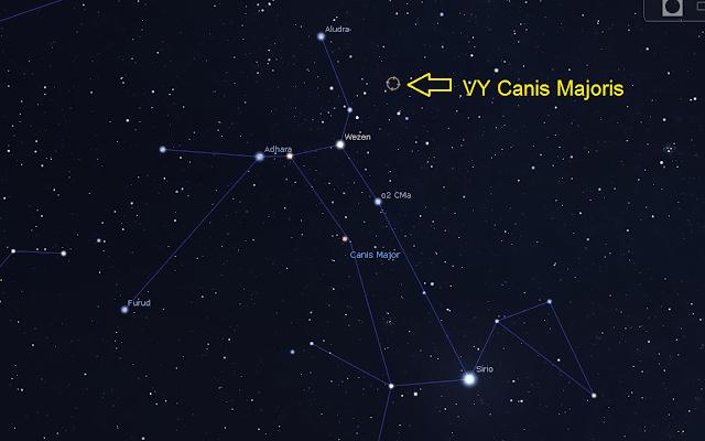 Resultado de imagen de VY canis majoris