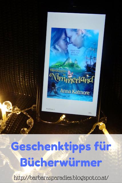 Geschenktipps für Bücherwürmer: Herzklopfen in Nimmerland von Anna Katmore