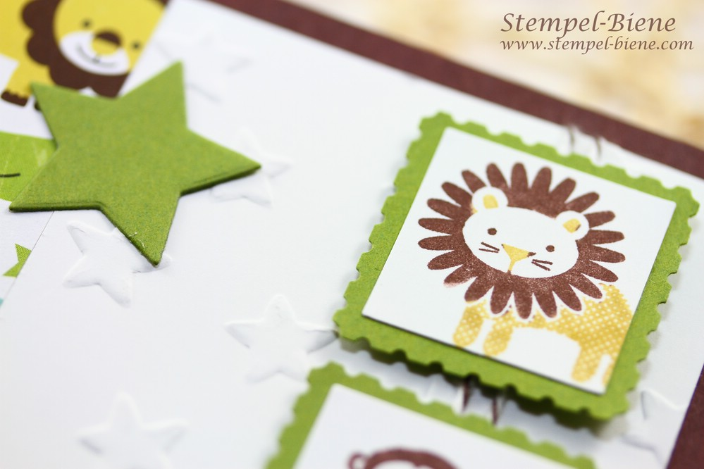 Stampin Up Babykarte Junge, Stampin Up Zoo Babies, Stampin Up Babykarte basteln, Match the Sketch, Stampin Up bestellen