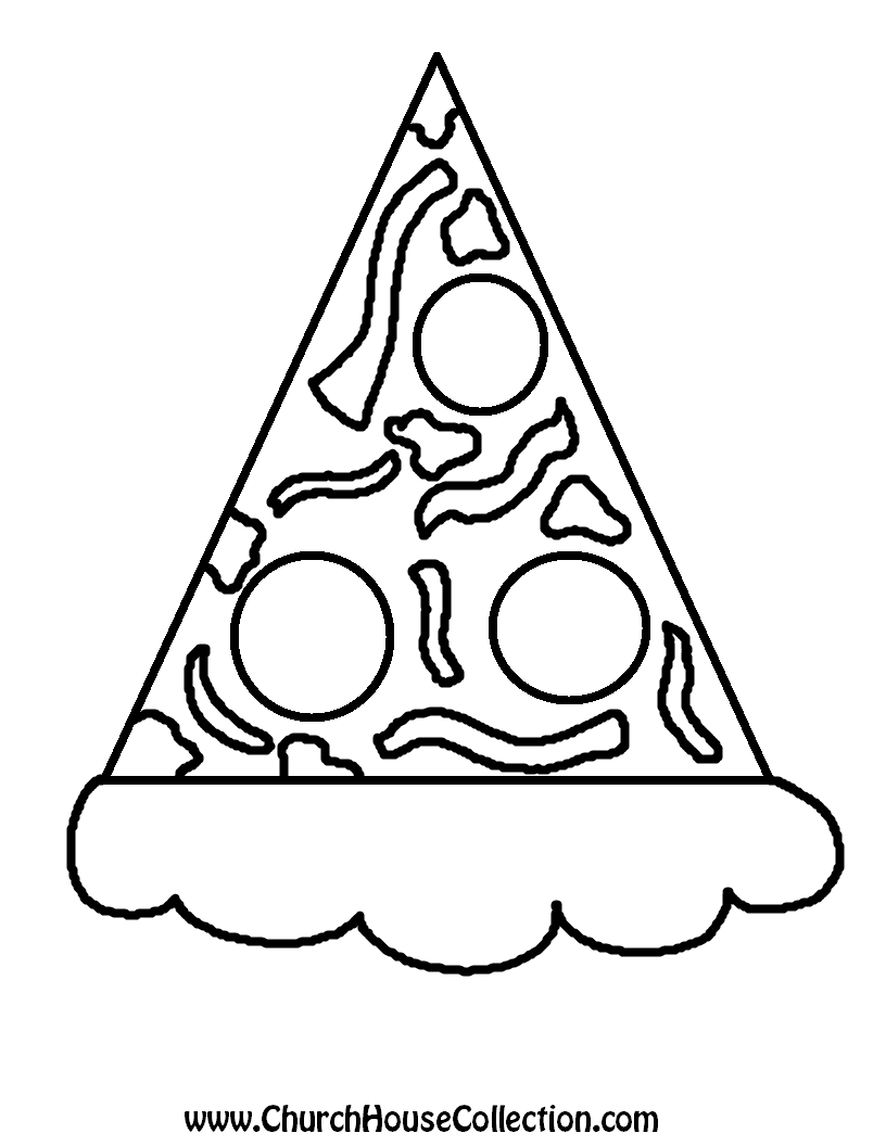 Fraction Pizza Coloring Page Coloring Pages