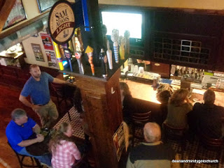 view of the bar from upstairs at McHale's