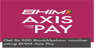axis pay upi app bookmyshow offer voucher
