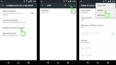 Configuracion de APN WEEX Android 2017