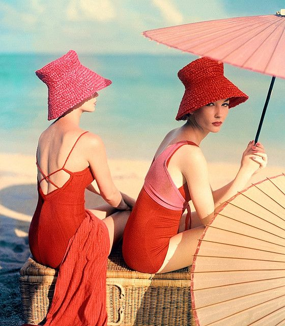 vintage swimsuit : 26 Images of Inspiration: Imperial Red 07-01-2016 {Cool Chic Style Fashion}