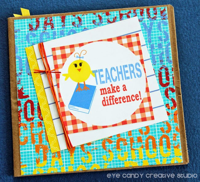 teachers make a difference, scrapbook cardmaking, teacher gift idea