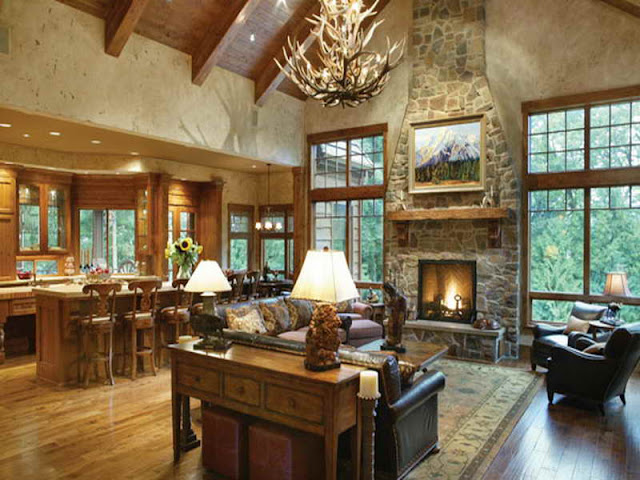 Luxurious Mountain Home with Rustic Interior Luxurious Mountain Home with Rustic Interior 0523b18d3b6add29f57a632f3b24474b
