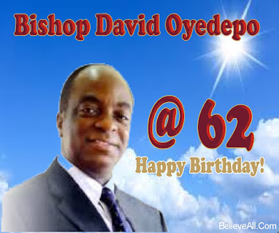 Happy Birthday To Bishop David Oyedepo To world celebrates success. No one ever celebrated failure. Today, I choose to join millions of people all over the world to celebrate the Gods general, Bishop David Oyedepo.  Bishop David Olaniyi Oyedepo was born on September 27th, 1954 in Osogbo but a native of Omu Aran, Kwara State, Nigeria, to a family of mixed religion. His father, Ibrahim was a Muslim healer while his mother, Dorcas, was a member of the Eternal Order of the Cherubim and Seraphim Movement but he was raised by his grandmother in Osogbo who introduced him to Christian life through early Morning Prayer.  Bishop David Oyedepo became born-again in 1969 through his teacher, Betty Lasher. In 1981, he founded a ministry known as Liberation faith Hour Ministry which later become Living faith Church World Wide (aka Winners Chapel). The church started in Kaduna but later moved to Lagos in 1989.  Presently, the church headquarters known as 'Canaanland' has 50,000 seat capacity auditorium, the 'Faith Tabernacle.'   He is happily married to faith Abiola Oyedepo and their marriage is blessed with David Oyedepo Jnr, Isaac Oyedepo, Love Oyedepo Ogah and Joyce Oyedepo as children.  Today, let's join him and his family to wish him happy 62 years anniversary.  I pray that God will keep him strong and anoint him with fresh anointing in his ministries and take him higher than he expected.  HAPPY BIRTHDAY SIR!