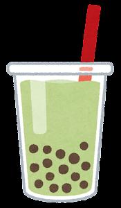 タピオカドリンクのイラスト(緑)