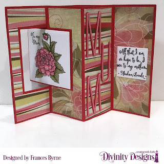 Divinity Designs Stamp Set: Grandmother's Heart, Custom Dies: Lever Card, Lever Card Layers, Long & Lean Letters, Test Tube Trio, Squares, Paper Collection: Beautiful Blooms