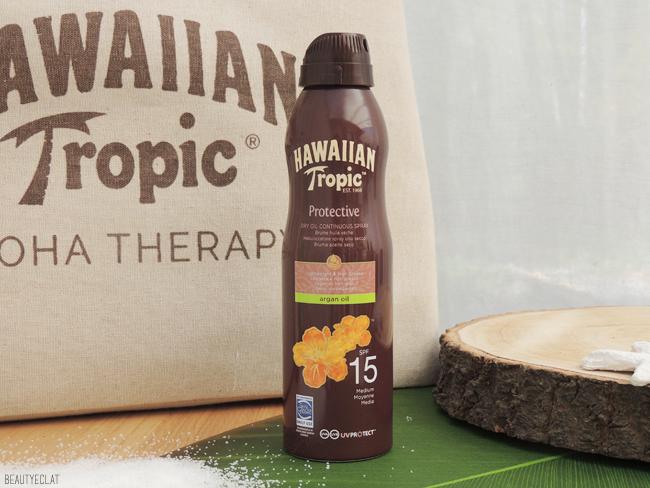 avis hawaiian tropic silk brume huile d'argan