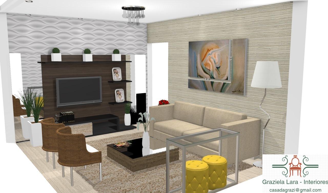 Construindo Minha Casa Clean Consultoria Da Leitora Decora O Da  -> Decoracao Para Sala Aconchegante