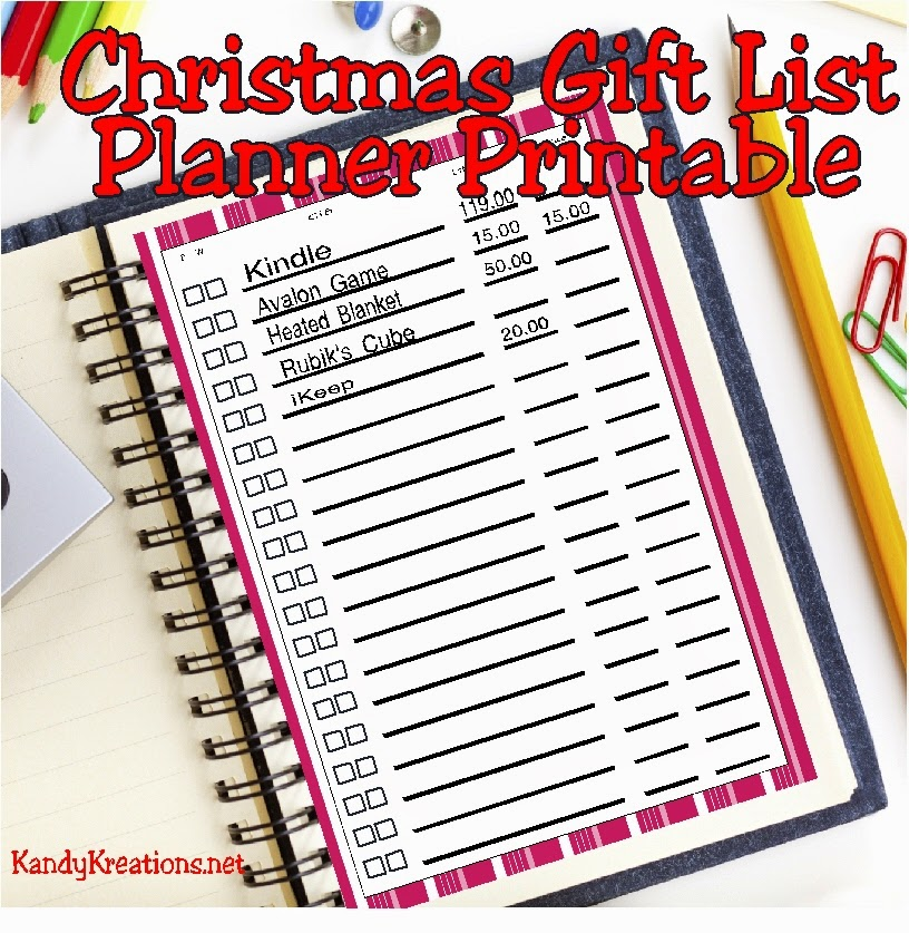 Make your Christmas shopping easier with this Christmas Gift List.  This free planner printable will help you keep your shopping organized and your budget on track.