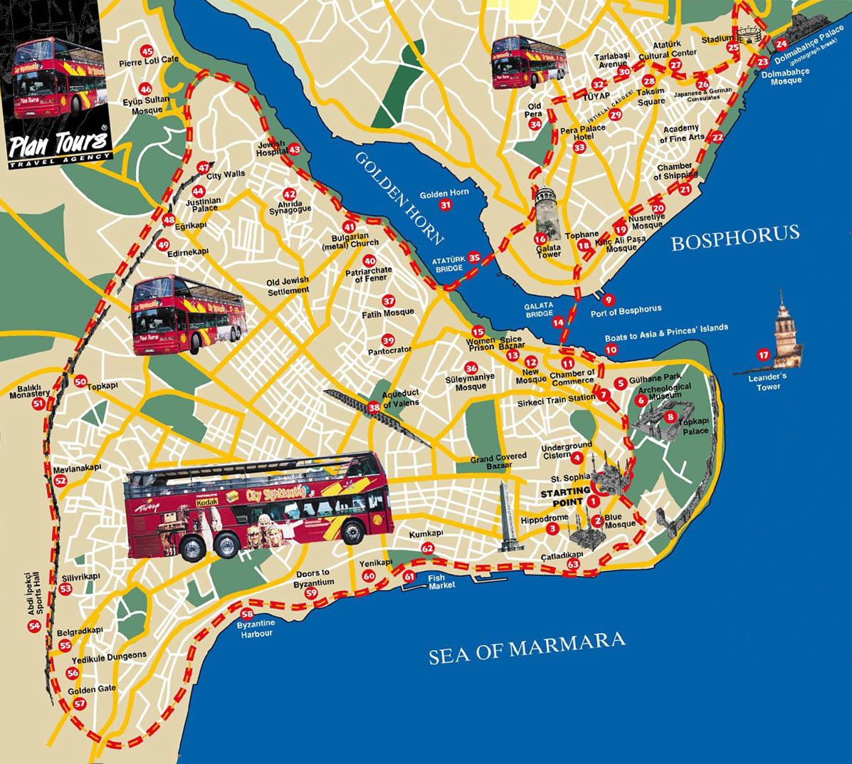 mapa de istambul Mapas de Istambul – Turquia   MapasBlog mapa de istambul