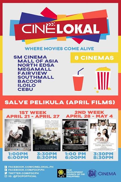Cine Lokal - Salve Pelikula - Schedule