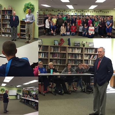 U.S. Senator Mitch McConnell Visits GCHS