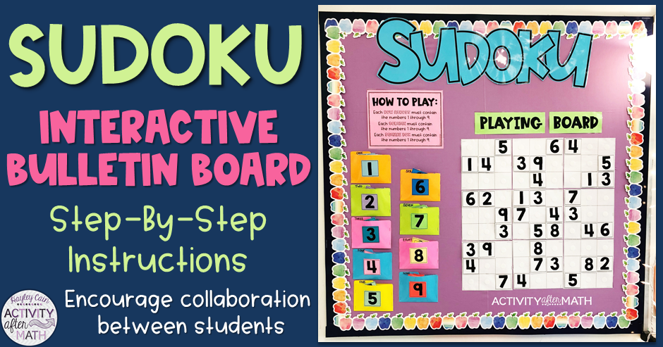 Activity After Math with Hayley Cain: Sudoku Interactive