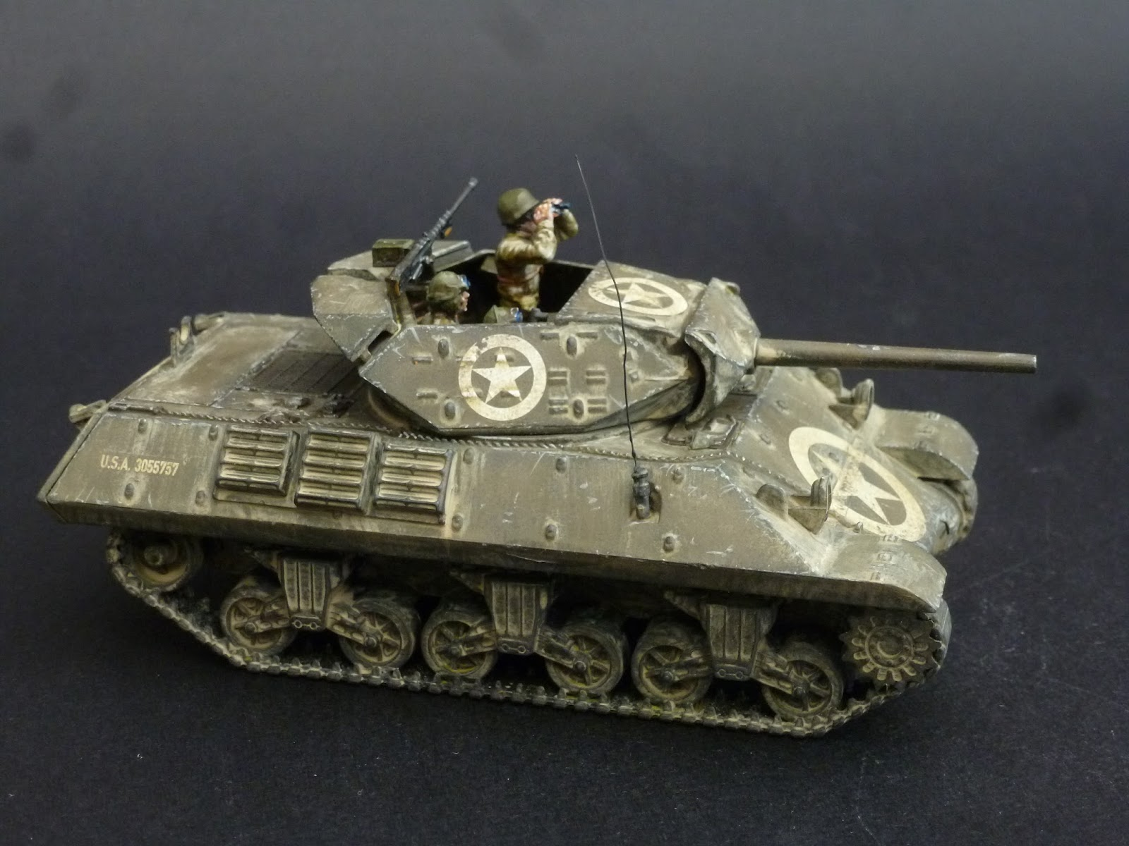 Volley Fire Painting Warlord Games Plastic M10 Tank