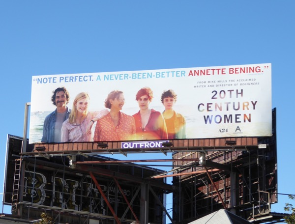 20th Century Women movie billboard