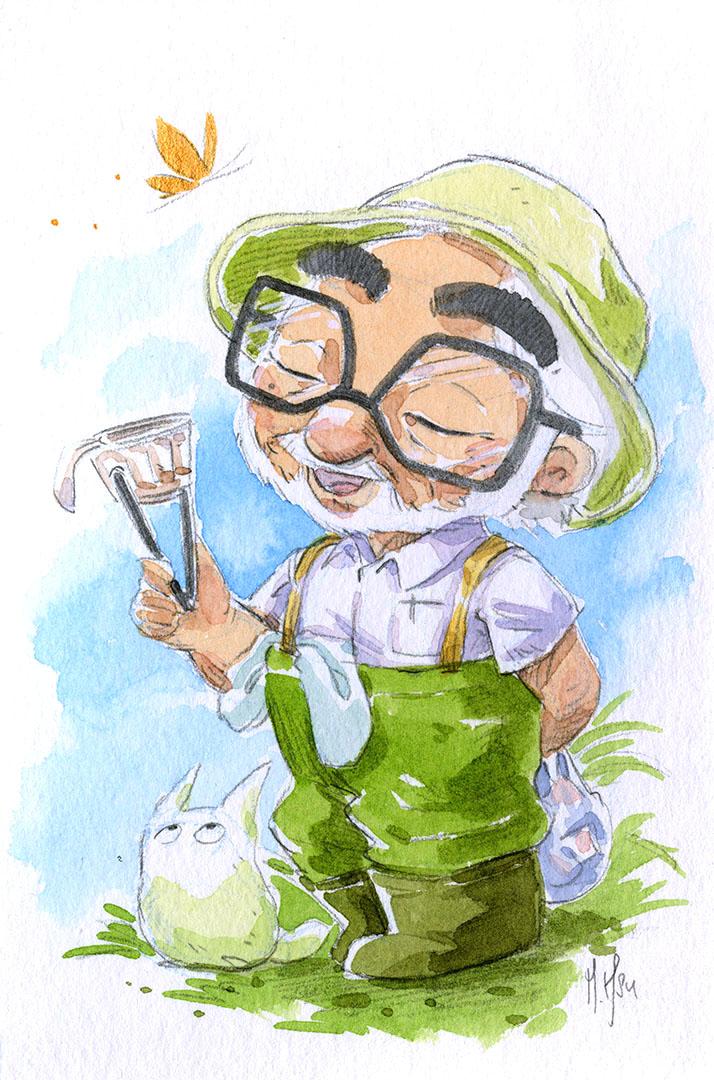 Martin Hsu Art Hayao MiyazakiSensei 77th Birthday at