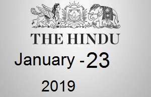 The Hindu Newspaper Today 23 January 2019 Download PDF