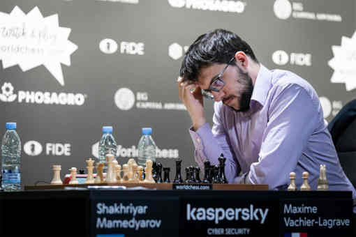 Le n°1 Français des échecs, Maxime Vachier-Lagrave, s'est imposé face au Russe Alexander Grischuk sur le score de 1.5 à 0.5 et a décroché son billet pour la finale - Photo © Niki Riga