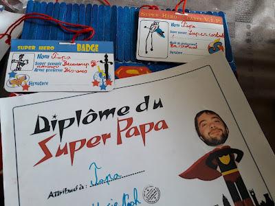 Diplôme super papa Superpapa Box