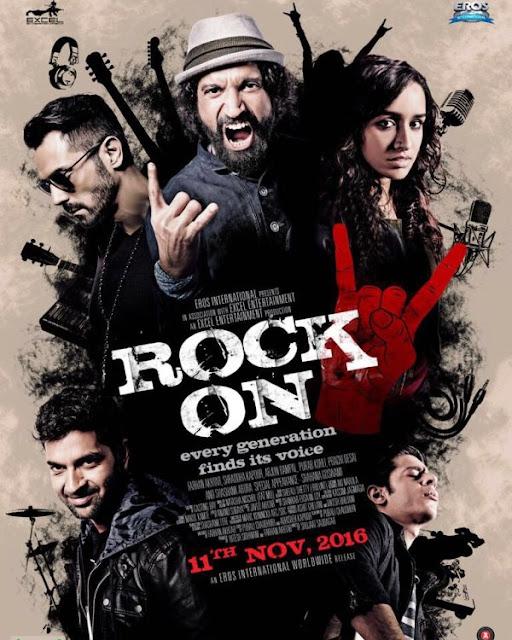 Rock On 2, Rock On 2 poster , Rock On 2 first look poster , Rock On 2 image , Rock On 2 Shraddha kapoor, Rock On 2 Arjun Rampal, Rock On 2 Farhan Akhtar