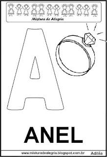 Alfabeto cartaz letra A
