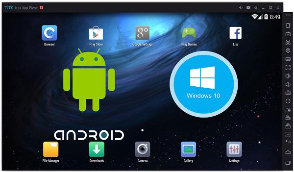 برنامج nox app player لتشغيل تطبيقات الاندرويد على الكمبيوتر