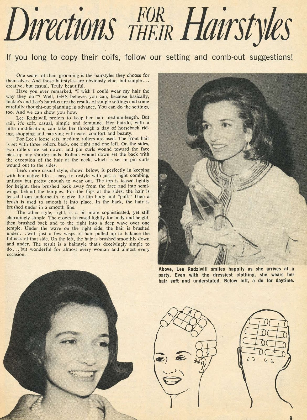 Incurlers Jackie Kennedy's Hairdo How To