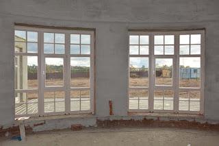 Деревянные окна из сосны с раскладкой