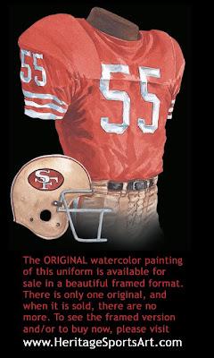 San Francisco 49ers 1972 uniform