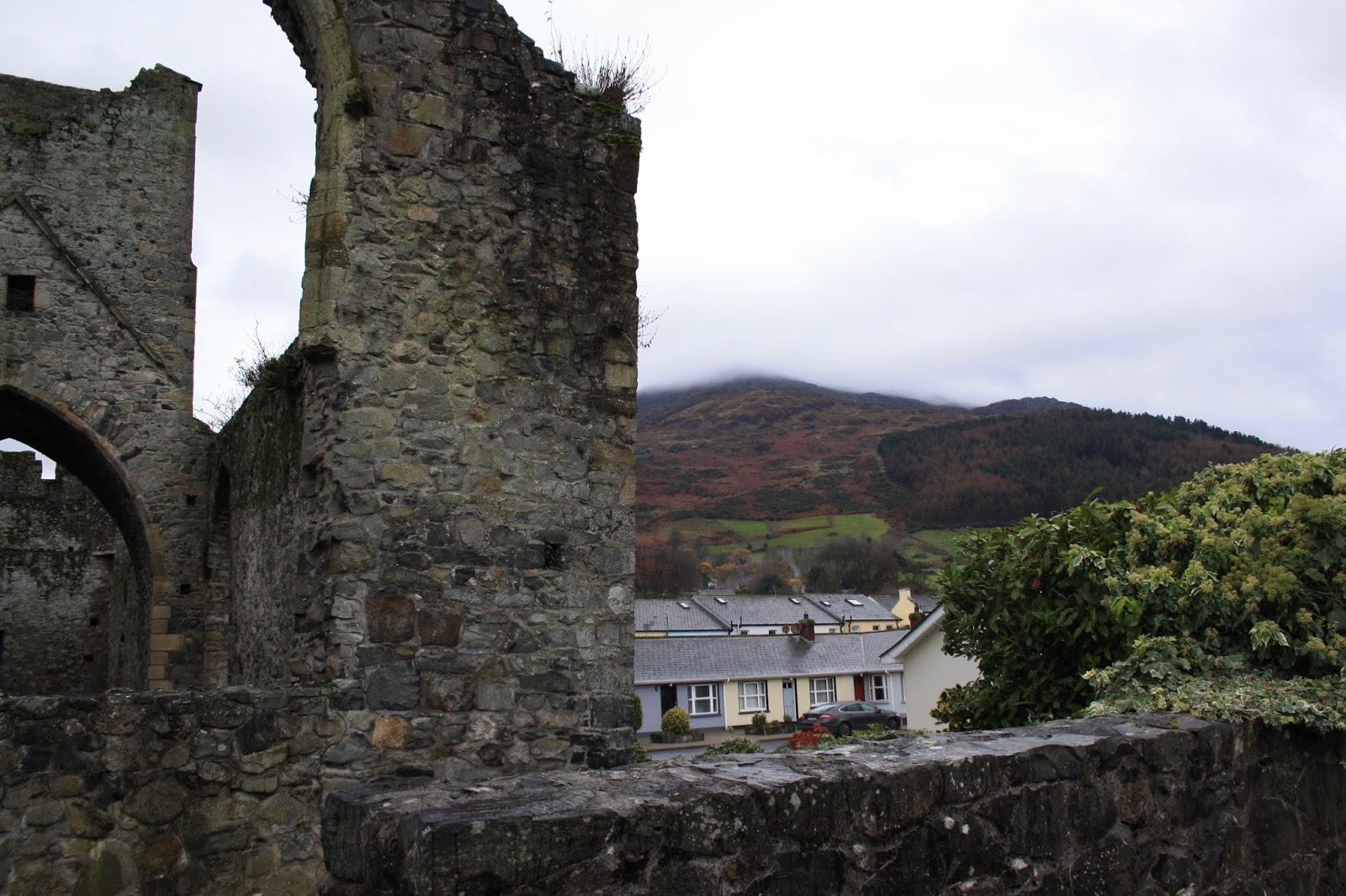 Carlingford priory Ireland stone scenery
