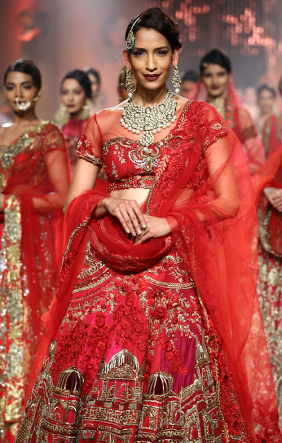 Model Krishna Somani at the India Fashion Show