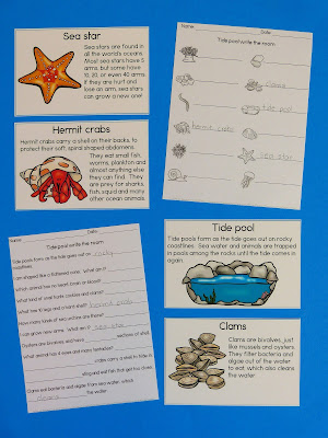 https://www.teacherspayteachers.com/Product/Tide-Pool-Write-the-Room-Matching-Games-and-Reading-Comprehension-3202339