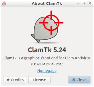 ClamAV GUI on Lubuntu 17.10