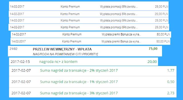 moje zarabianie na bankach - podsumowanie stycznia 2017 r