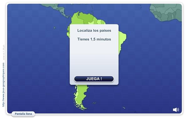 """""""Geo Quizz América del Sur"""" (Juego de localización geográfica)"""