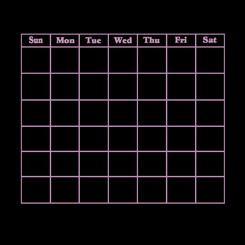 Blank Calendar Pages : Blank calendar en