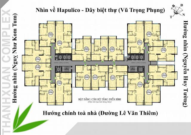 Mặt bằng điển hình chung cư Thanh Xuân Complex