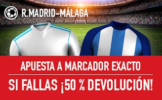 sportium promocion Real Madrid vs Malaga 25 noviembre