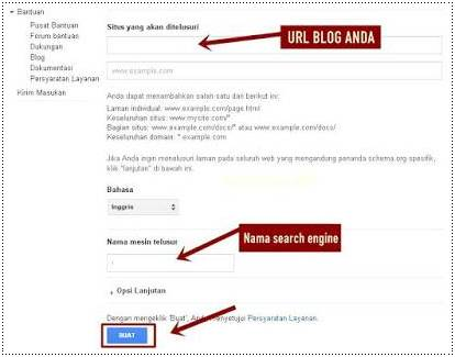Cara Membuat Google Custom Search Engine Di Blog