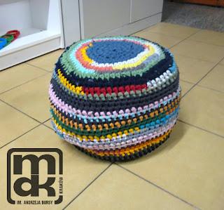 szydełkowa pufa-crochet puff