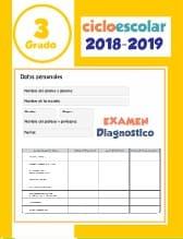 Examen de diagnostico Tercer grado 2018-2019