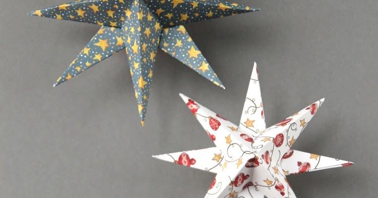 Diy 3d paper star christmas decorations gathering beauty for H h christmas decorations