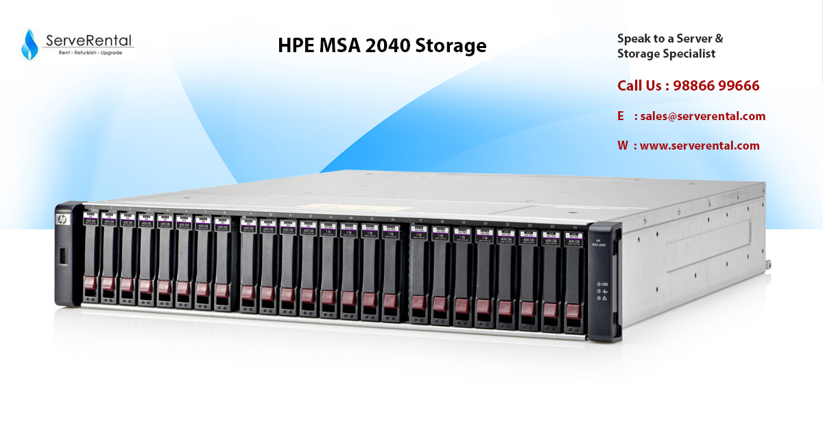 Hpe Msa 2040 Storage Storage For Small And Midsize