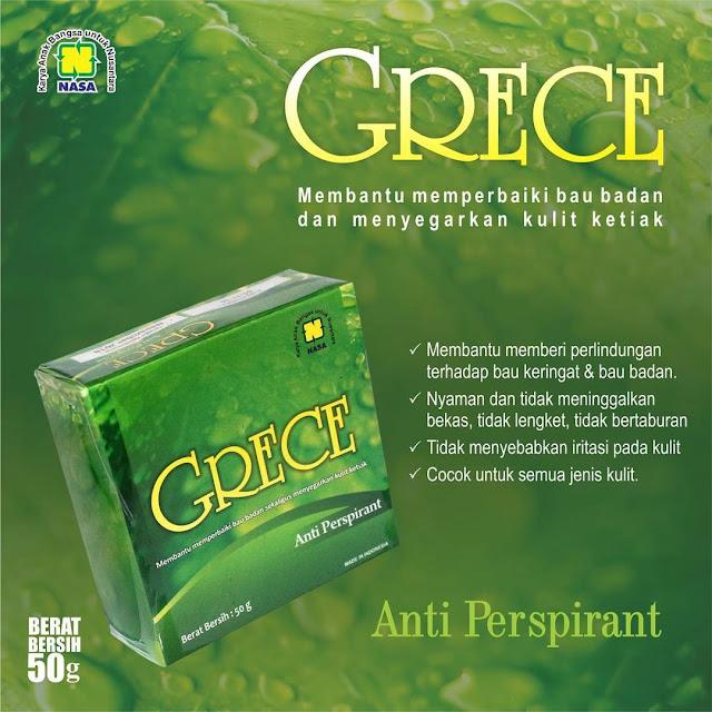 GRECE BODY CRYSTAL - Mineral Alami Pelindung Tubuh dari Bau Badan Lebih dari 24 Jam