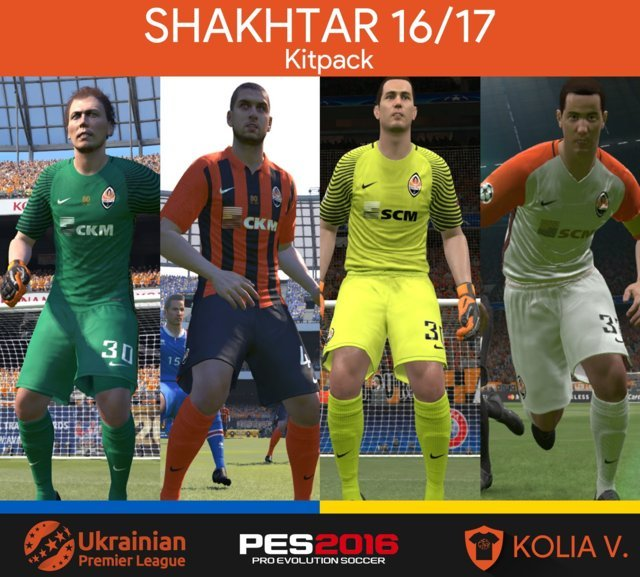 PES 2016 Shakhtar Kit Season 2016/17
