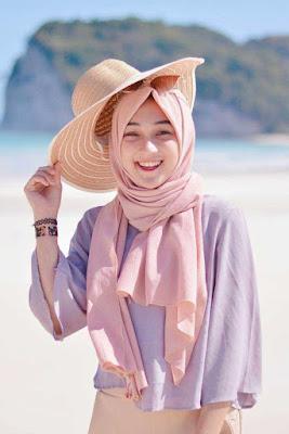 jilbab segi 4 satin polos c di pantai manis