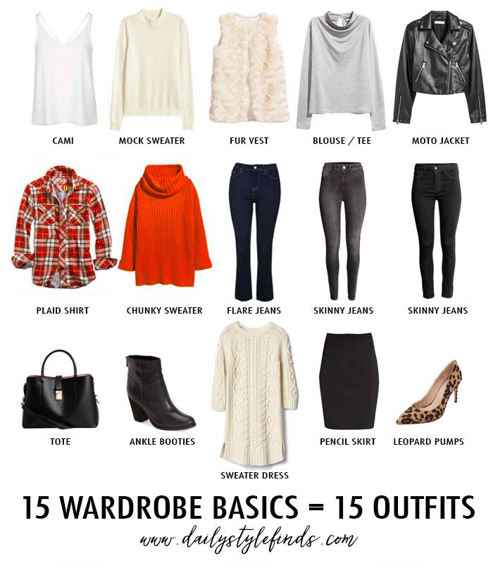 15 piece winter wardrobe, mixable winter wardrobe